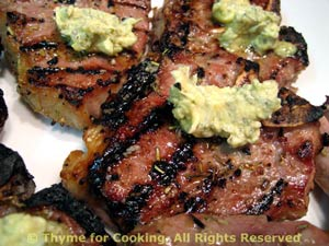 Lamb Chops With Lemon, Thyme And Mustard Butter Recipes — Dishmaps
